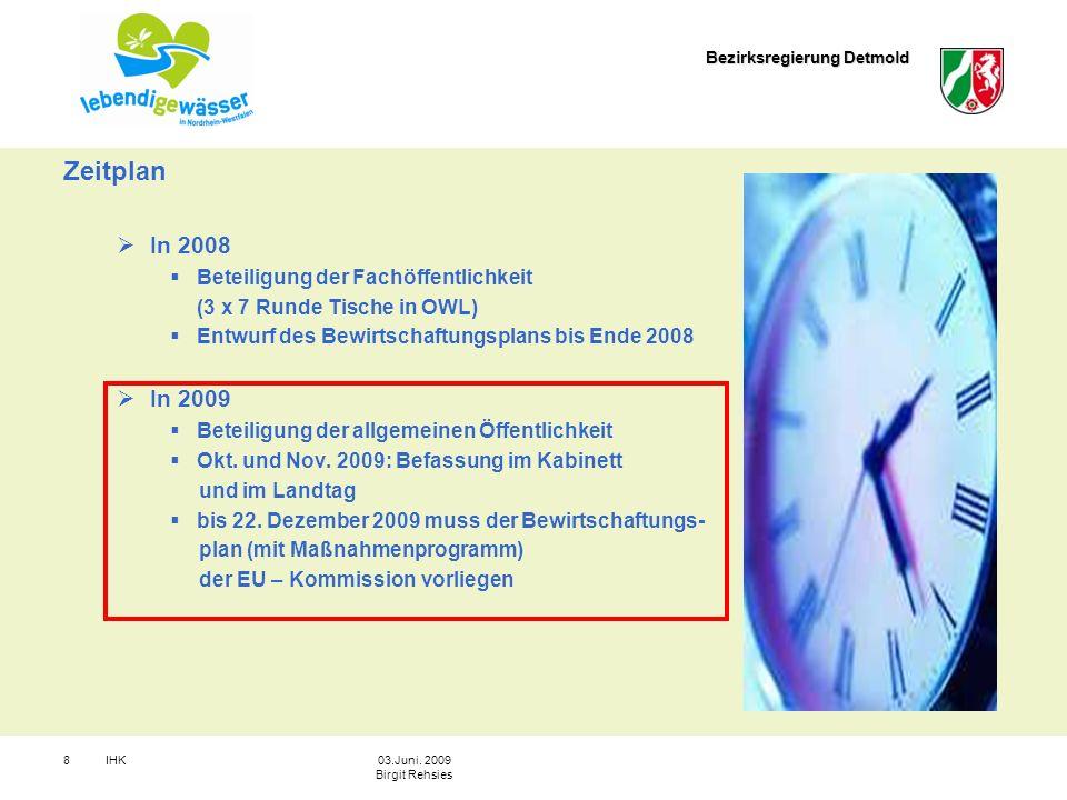 Zeitplan In 2008 In 2009 Beteiligung der Fachöffentlichkeit