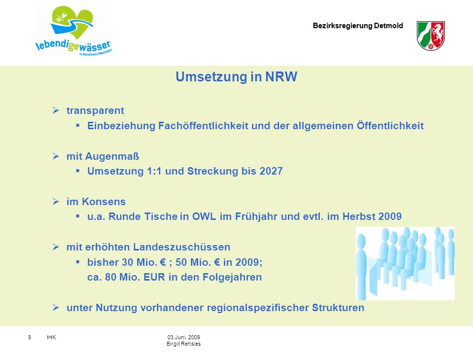 Umsetzung in NRW transparent