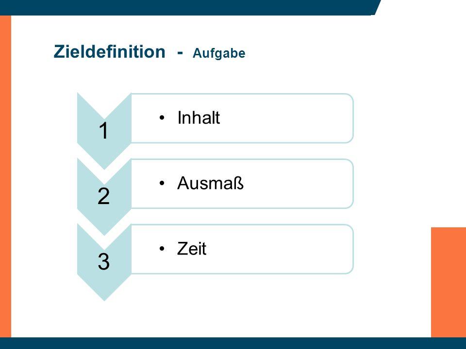 Zieldefinition - Aufgabe