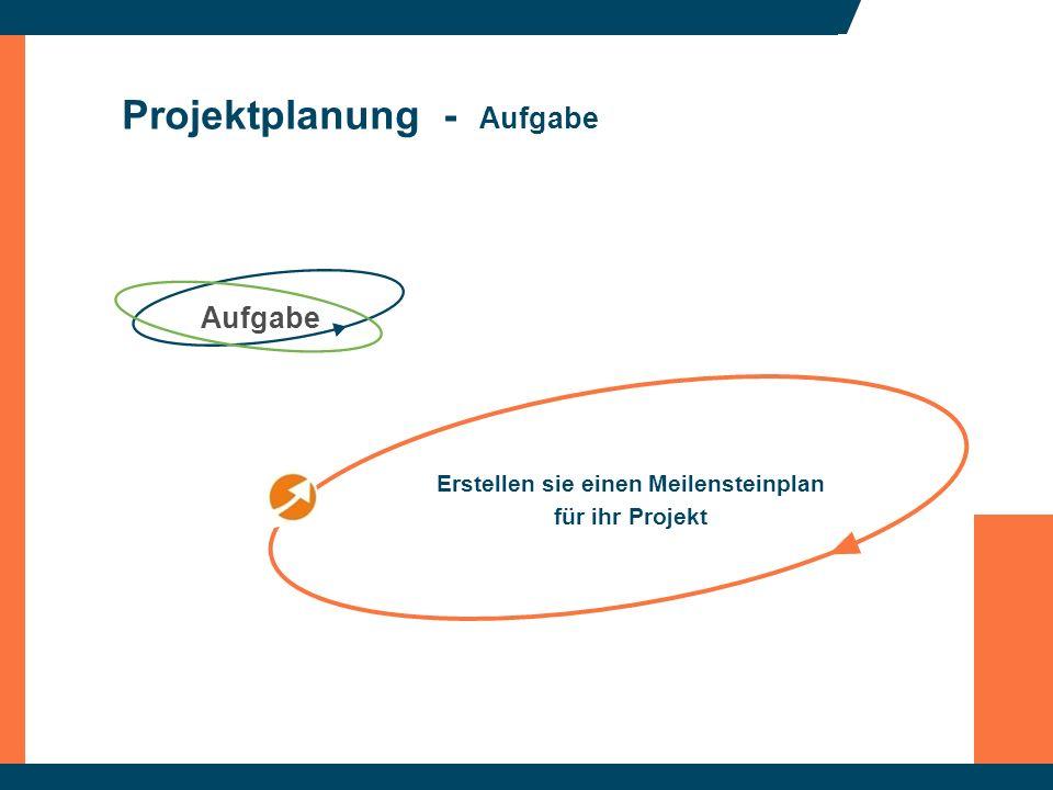 Projektplanung - Aufgabe