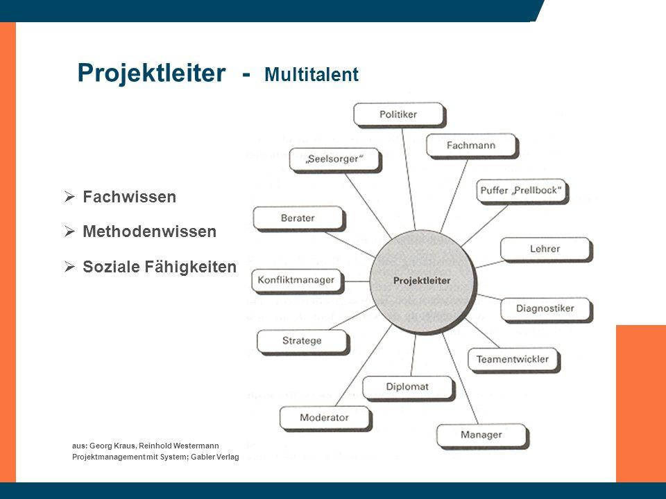 Projektleiter - Multitalent