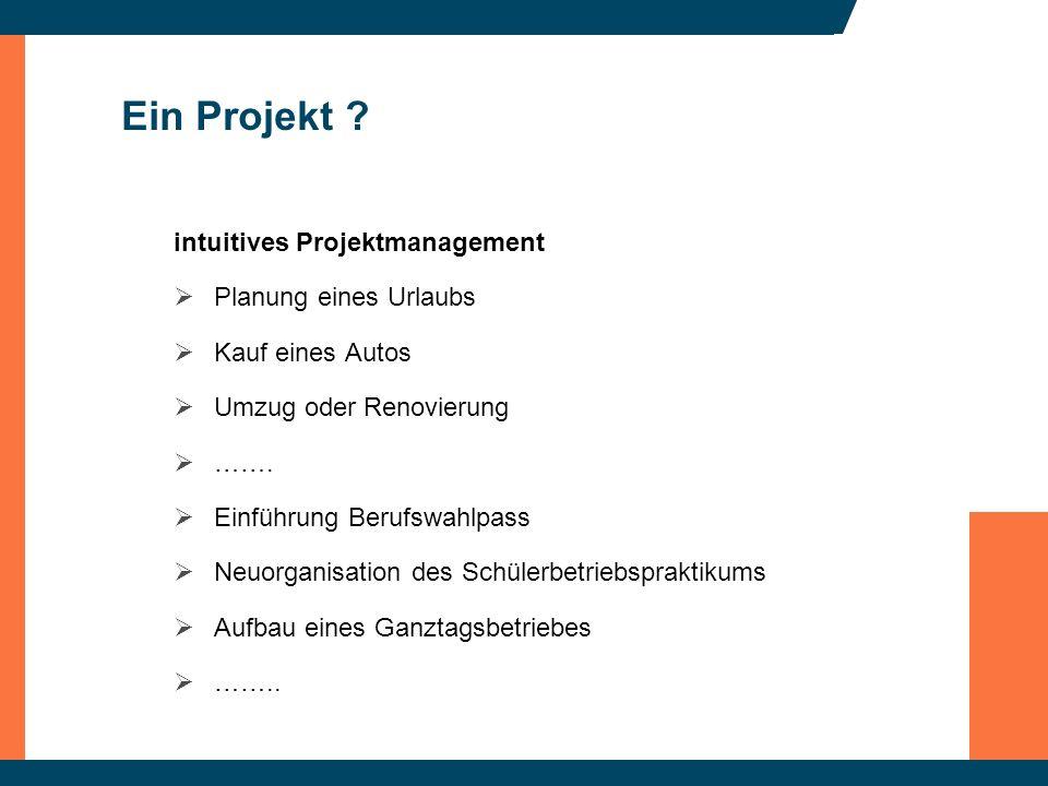 Ein Projekt intuitives Projektmanagement Planung eines Urlaubs