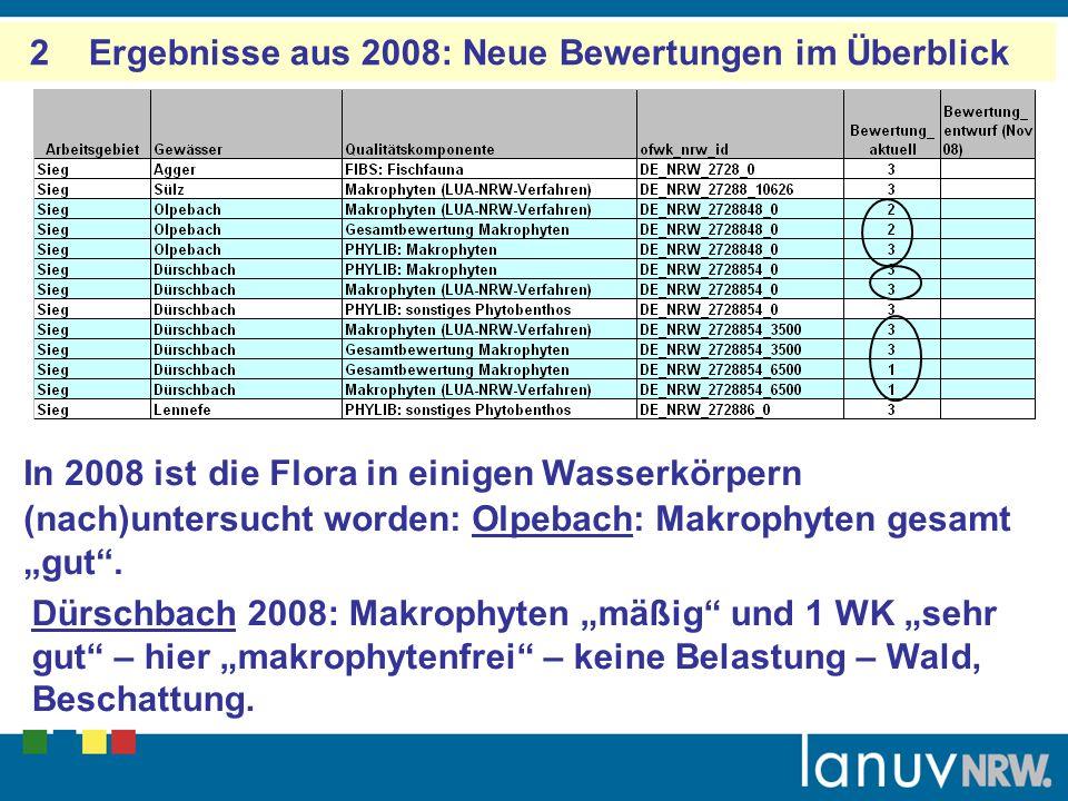 2 Ergebnisse aus 2008: Neue Bewertungen im Überblick