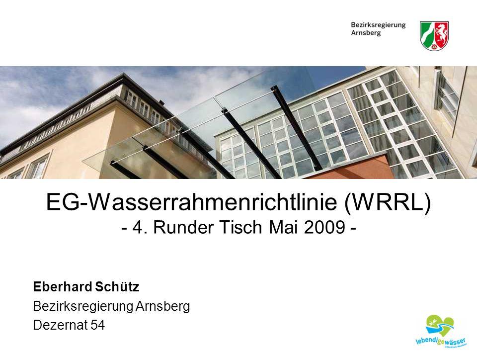 EG-Wasserrahmenrichtlinie (WRRL)