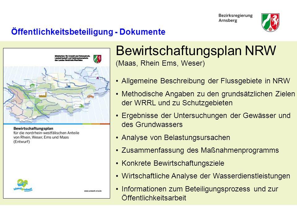 Bewirtschaftungsplan NRW