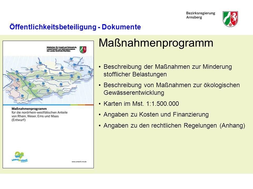 Maßnahmenprogramm Öffentlichkeitsbeteiligung - Dokumente