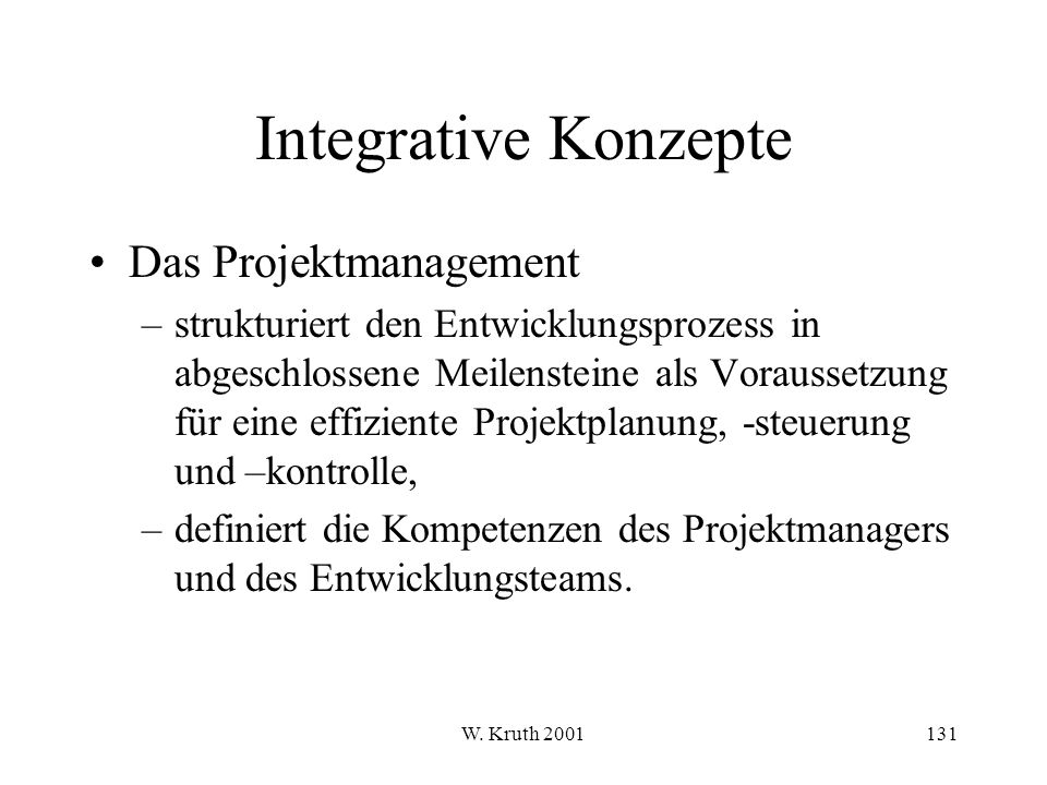 Integrative Konzepte Das Projektmanagement