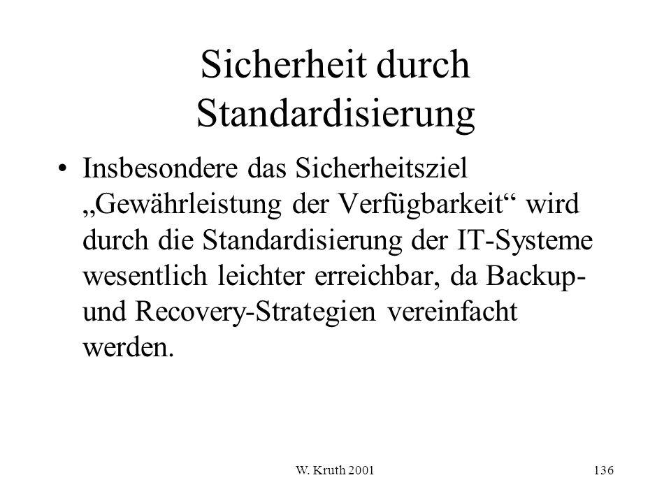 Sicherheit durch Standardisierung