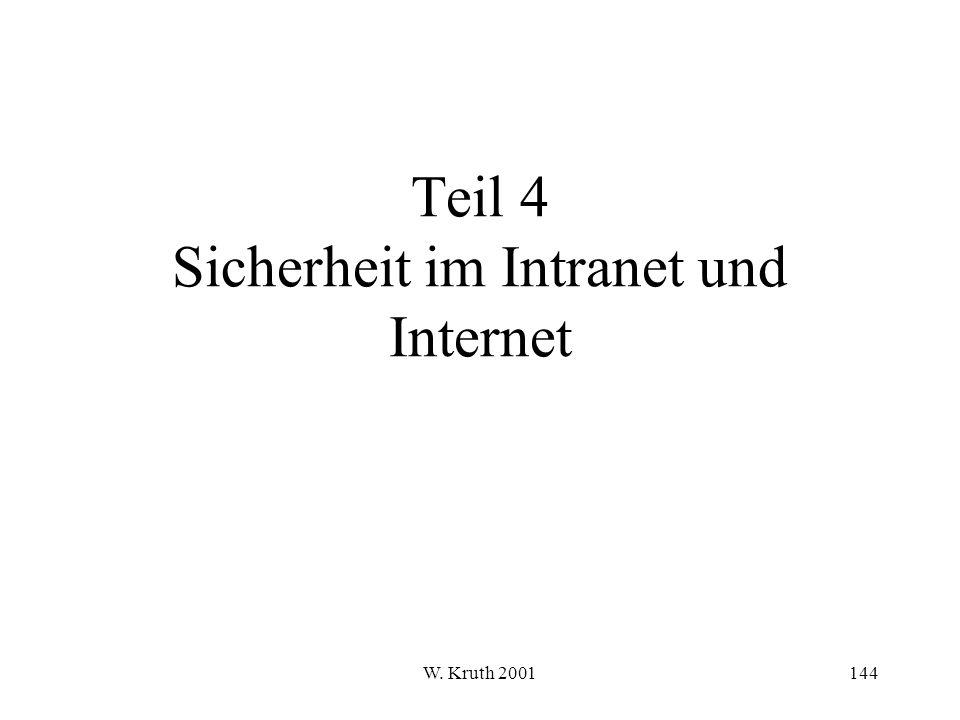 Teil 4 Sicherheit im Intranet und Internet
