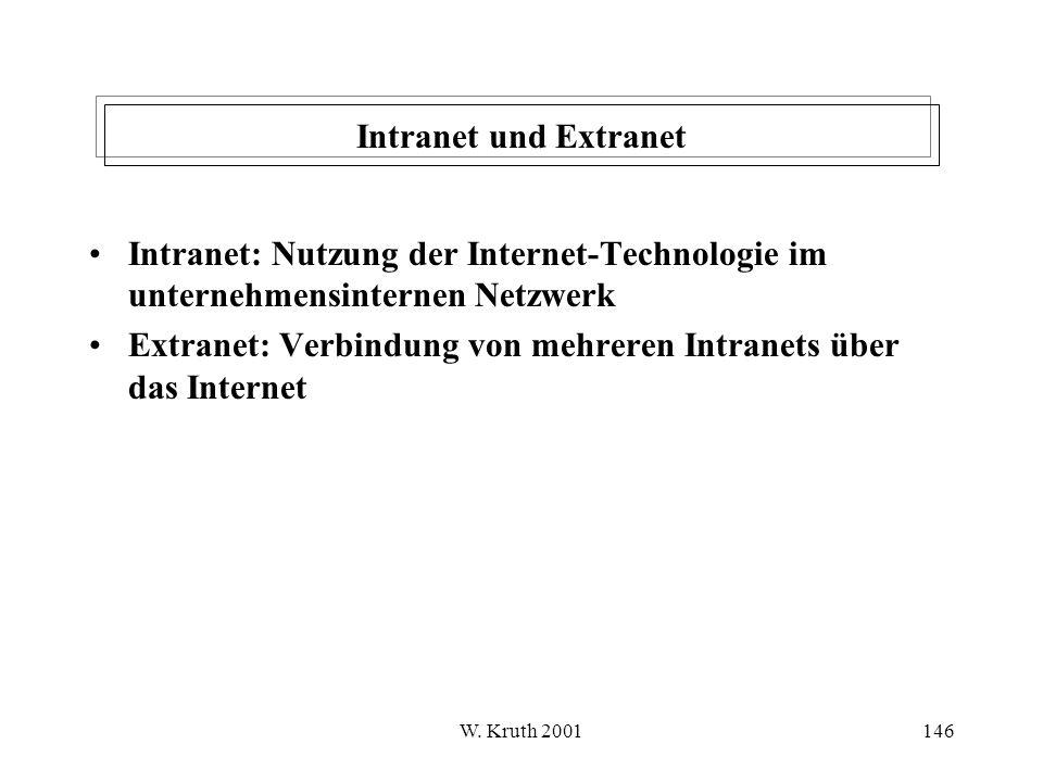 Extranet: Verbindung von mehreren Intranets über das Internet