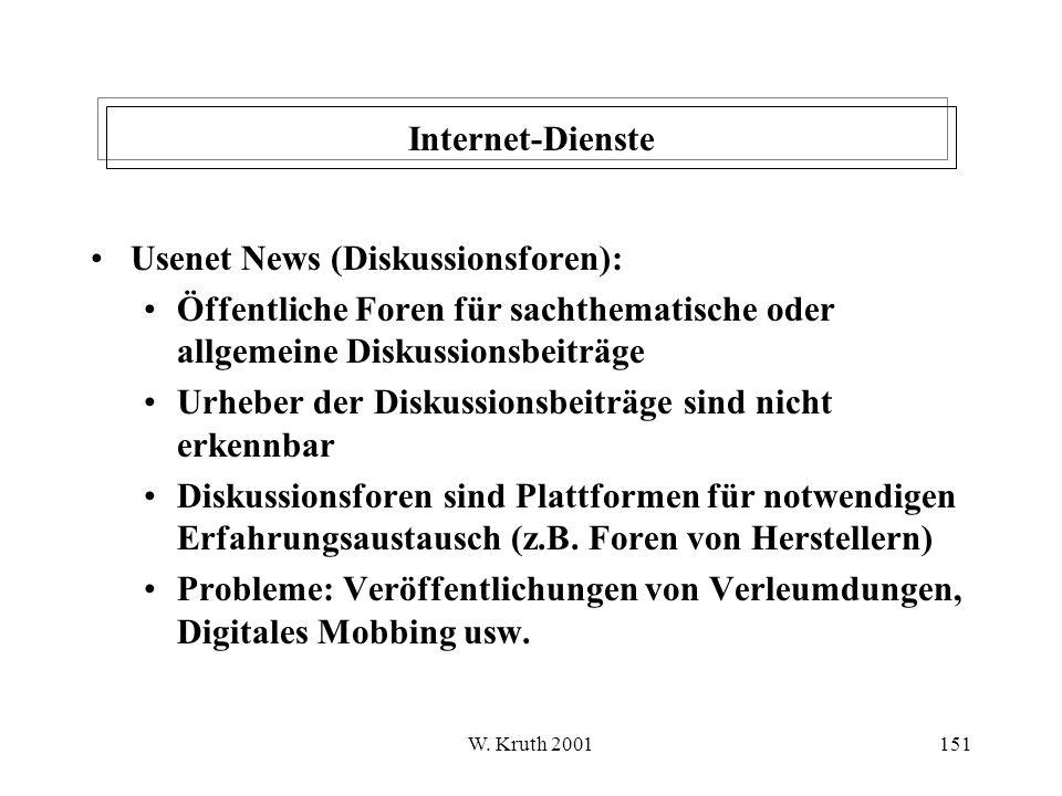 Usenet News (Diskussionsforen):