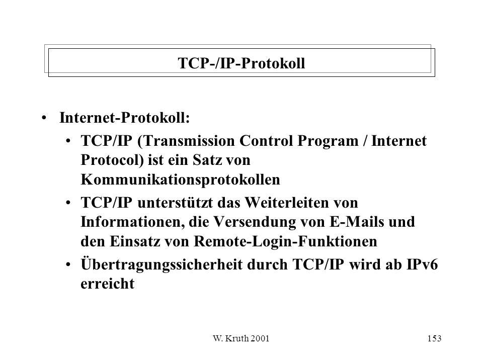 Übertragungssicherheit durch TCP/IP wird ab IPv6 erreicht