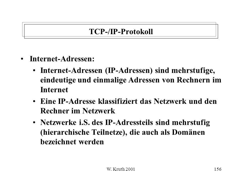 Eine IP-Adresse klassifiziert das Netzwerk und den Rechner im Netzwerk