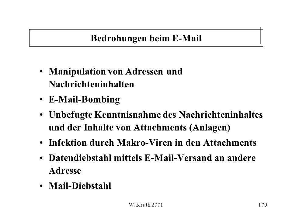 Bedrohungen beim E-Mail