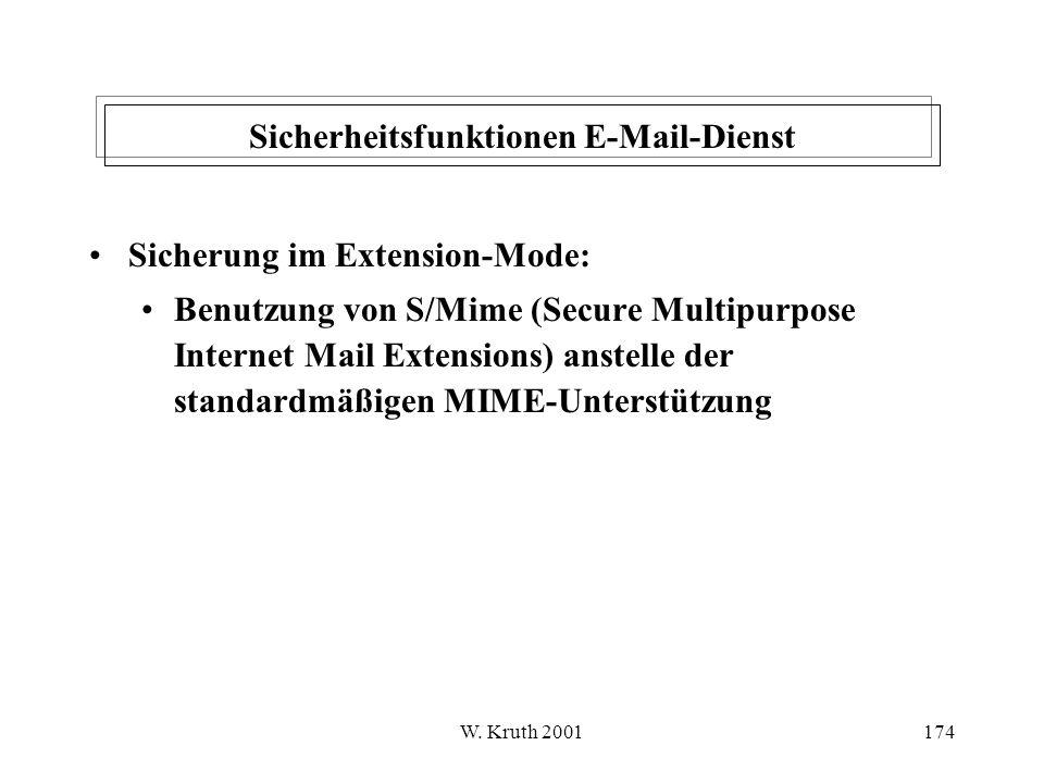 Sicherheitsfunktionen E-Mail-Dienst