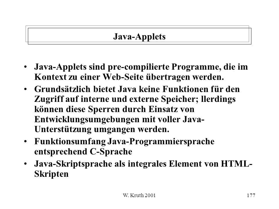 Funktionsumfang Java-Programmiersprache entsprechend C-Sprache