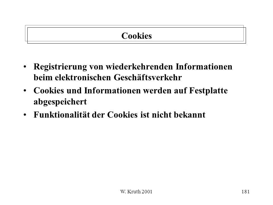 Cookies und Informationen werden auf Festplatte abgespeichert