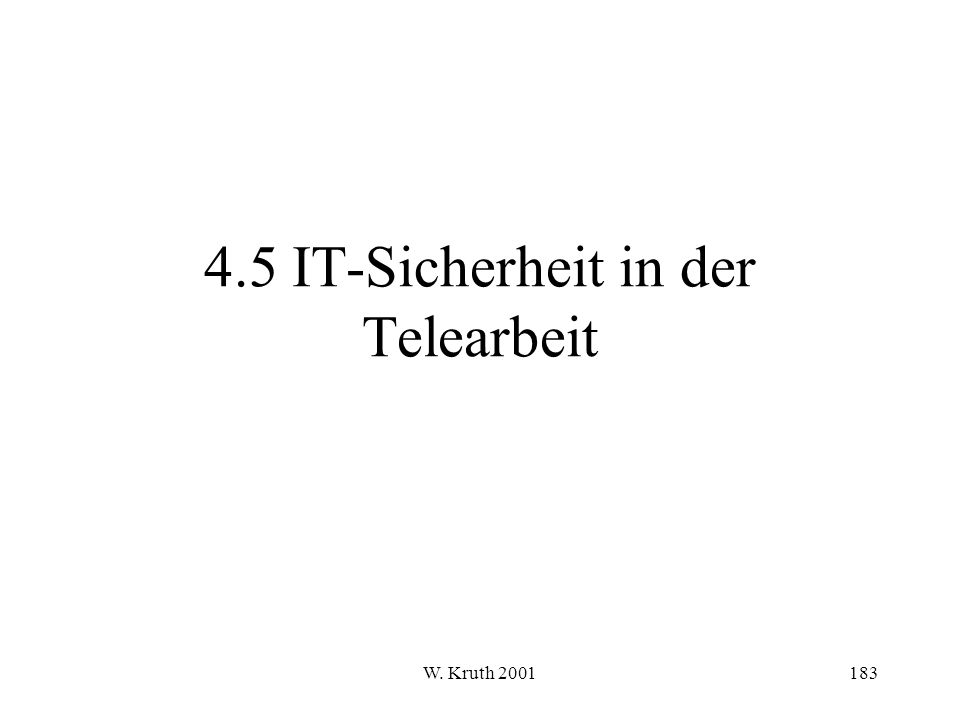 4.5 IT-Sicherheit in der Telearbeit