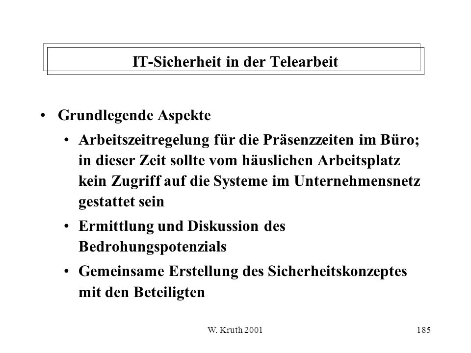 IT-Sicherheit in der Telearbeit