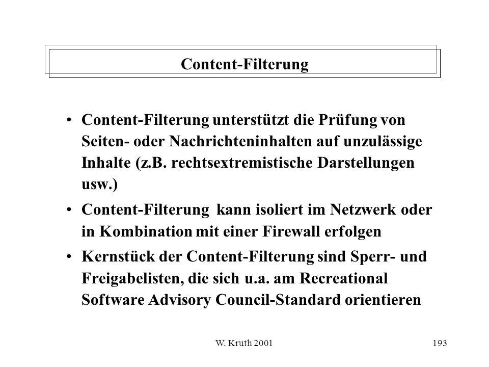 Content-Filterung
