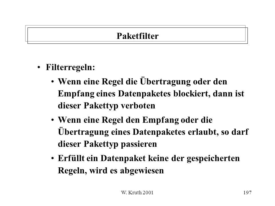 Paketfilter Filterregeln: