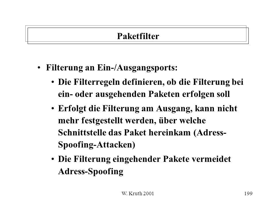 Filterung an Ein-/Ausgangsports: