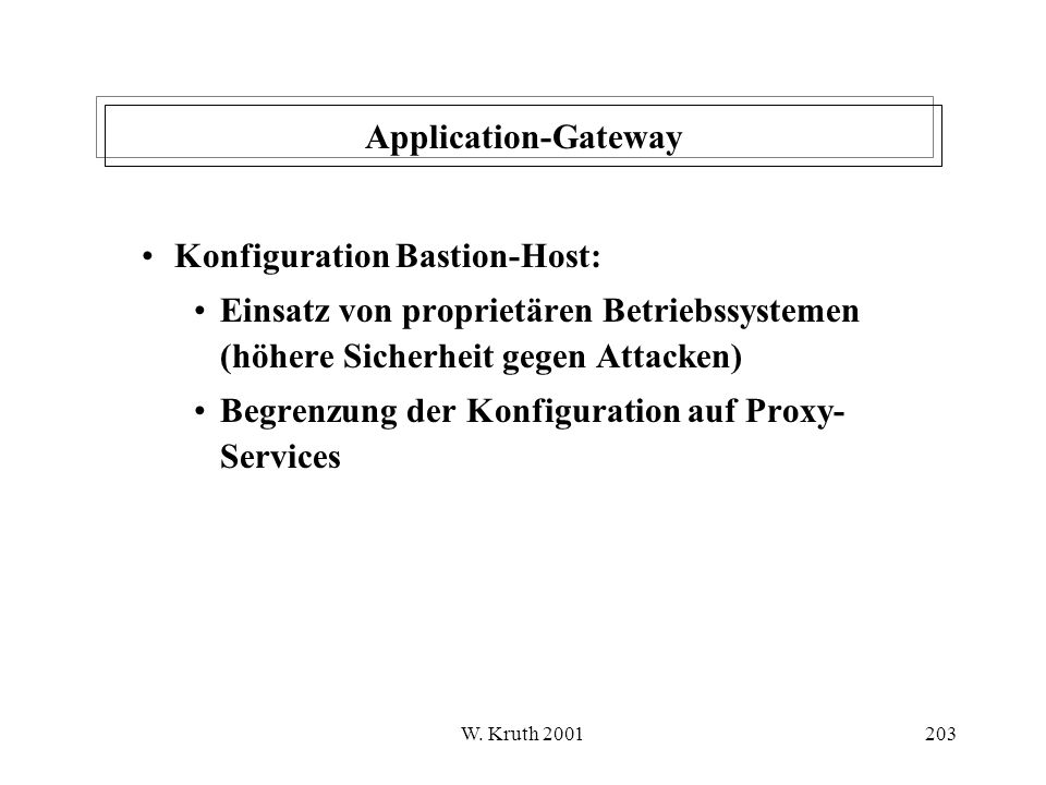 Konfiguration Bastion-Host: