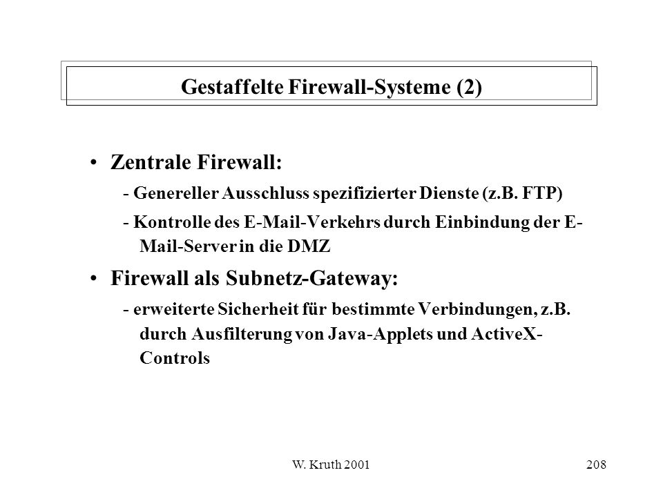 Gestaffelte Firewall-Systeme (2)