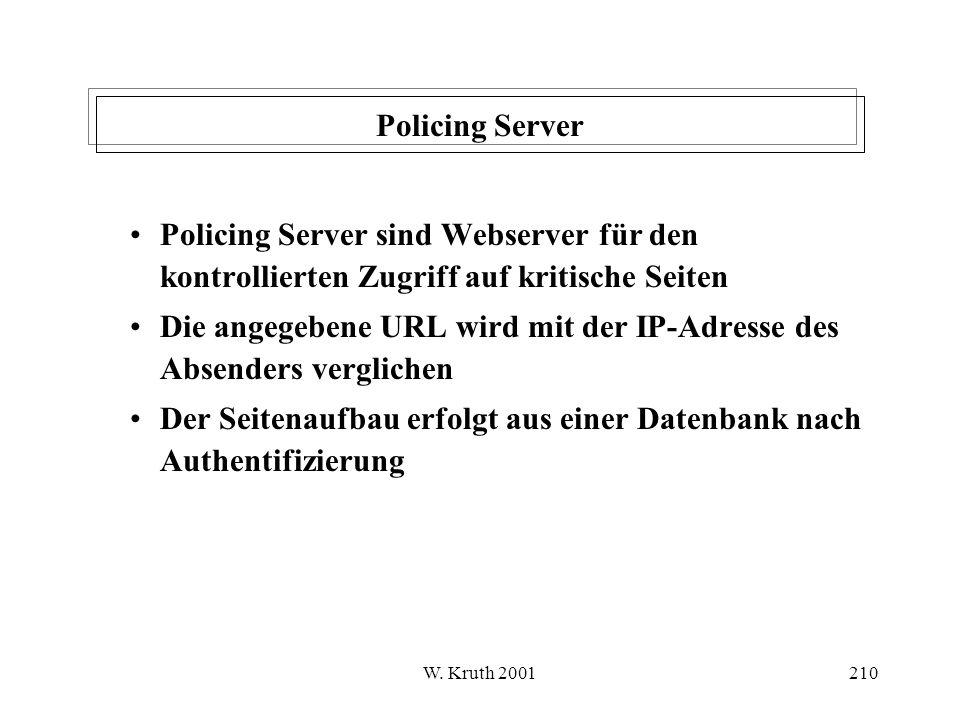 Die angegebene URL wird mit der IP-Adresse des Absenders verglichen