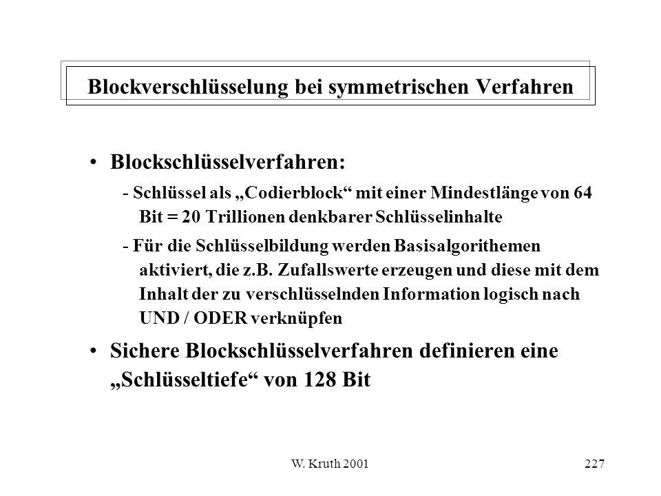 Blockverschlüsselung bei symmetrischen Verfahren