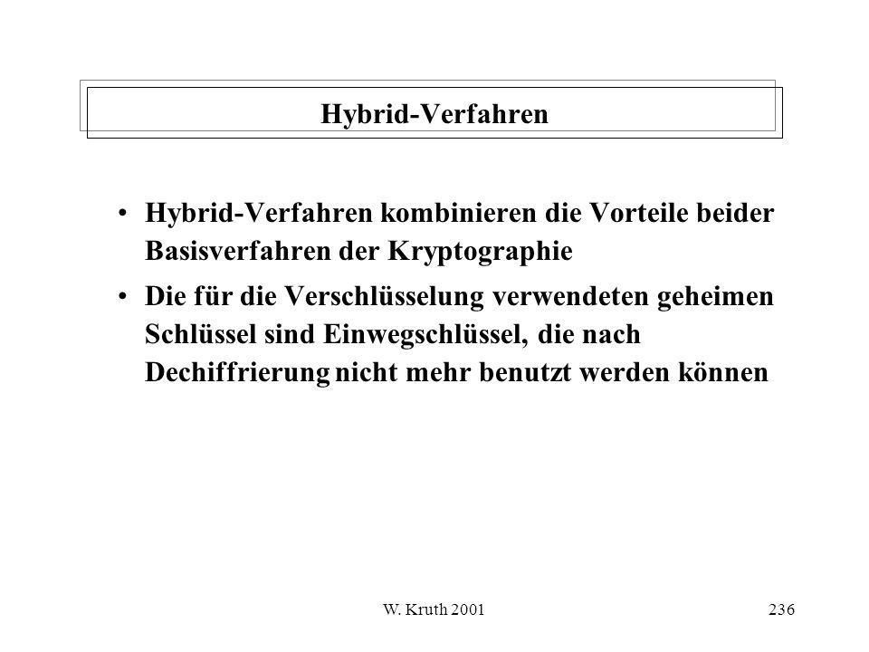 Hybrid-Verfahren Hybrid-Verfahren kombinieren die Vorteile beider Basisverfahren der Kryptographie.