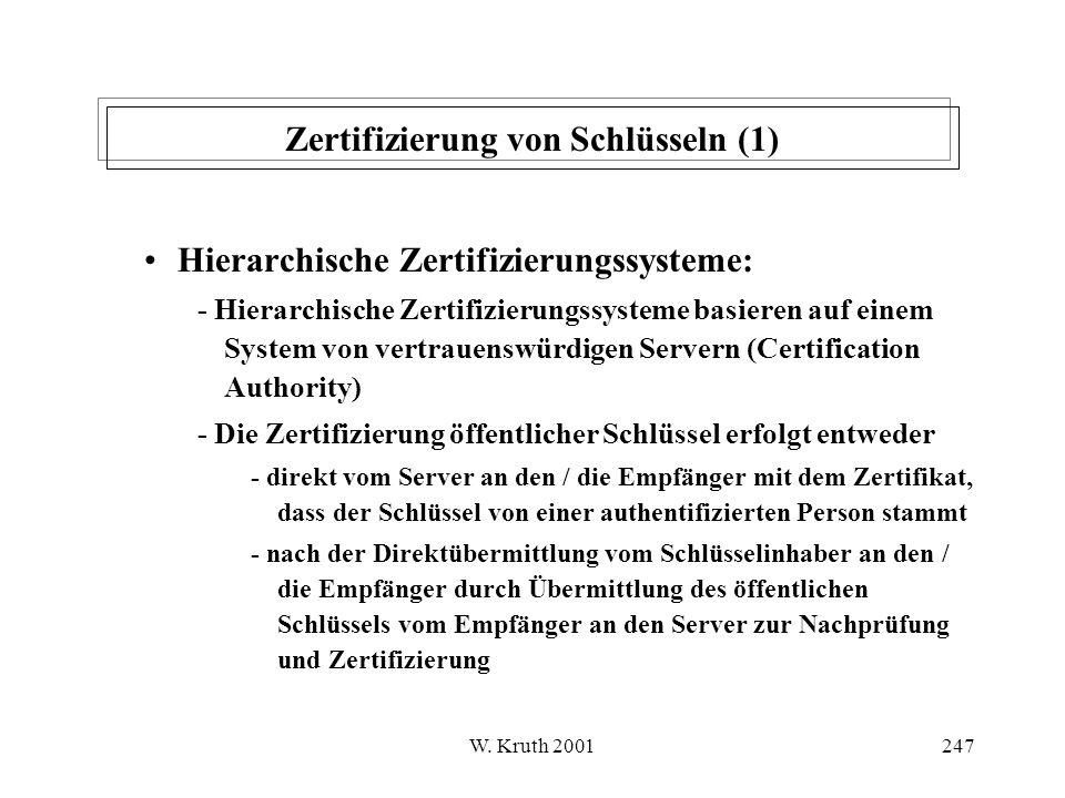 Zertifizierung von Schlüsseln (1)