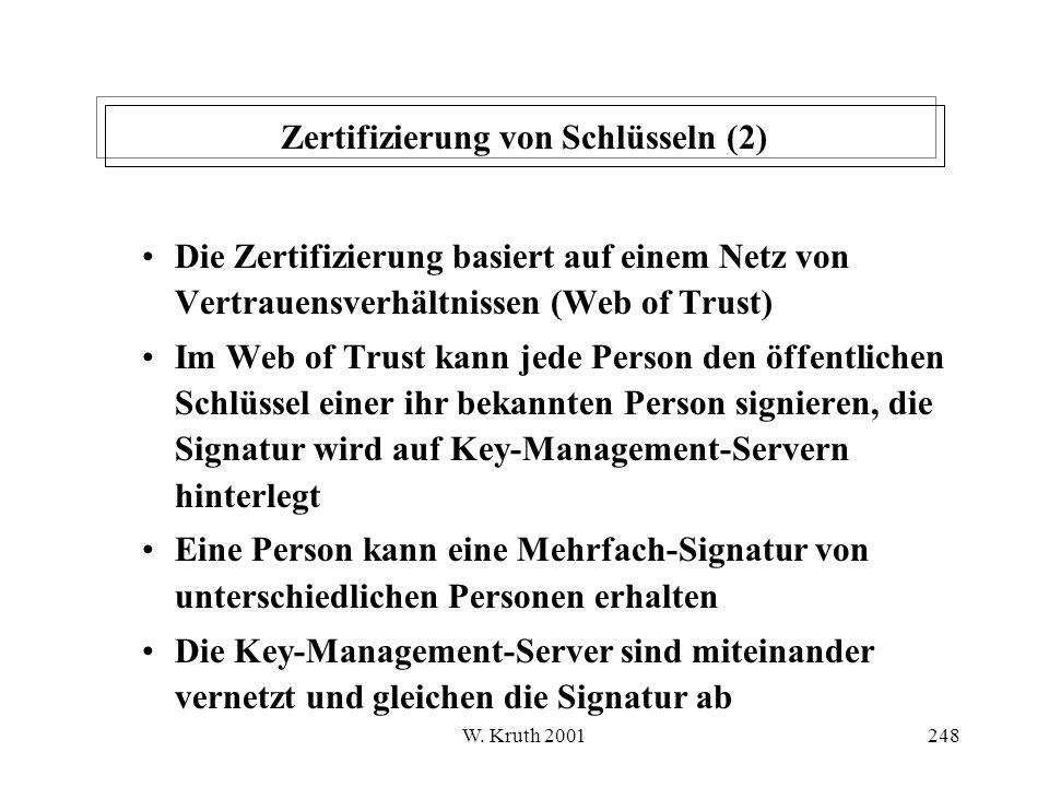 Zertifizierung von Schlüsseln (2)