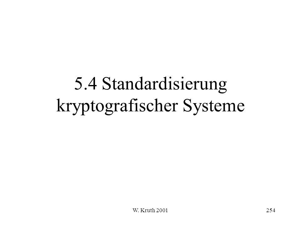 5.4 Standardisierung kryptografischer Systeme