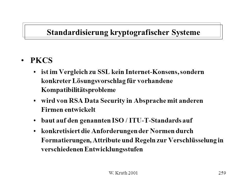 Standardisierung kryptografischer Systeme
