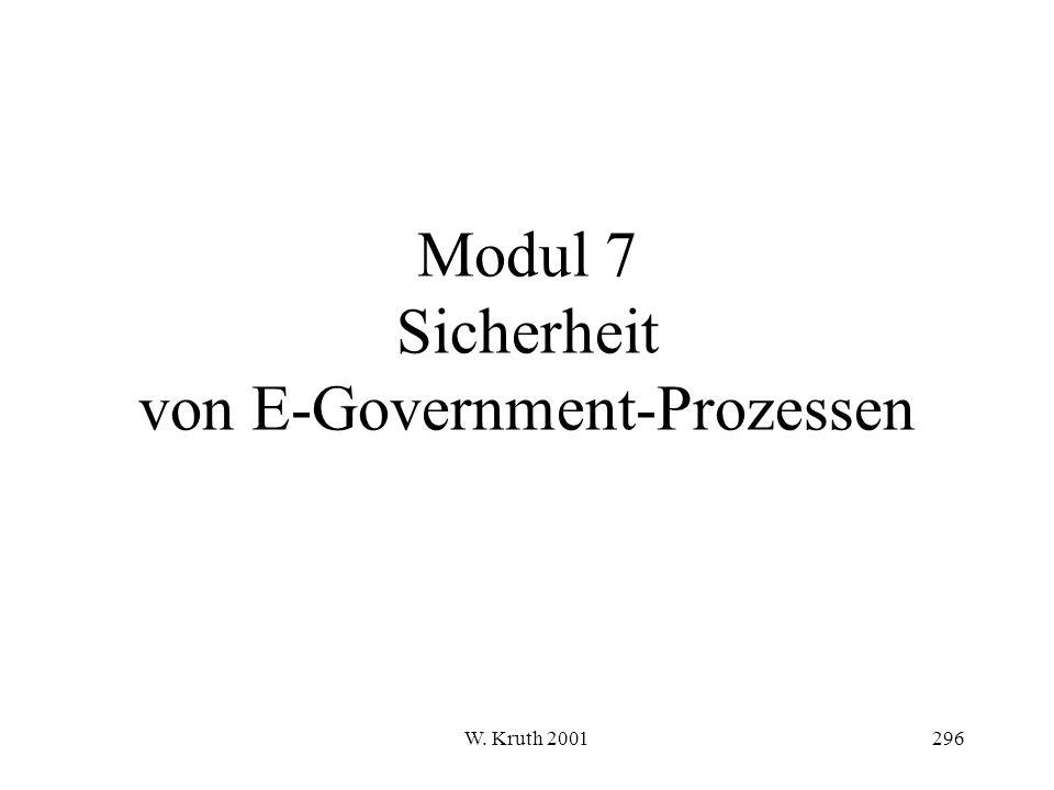 Modul 7 Sicherheit von E-Government-Prozessen
