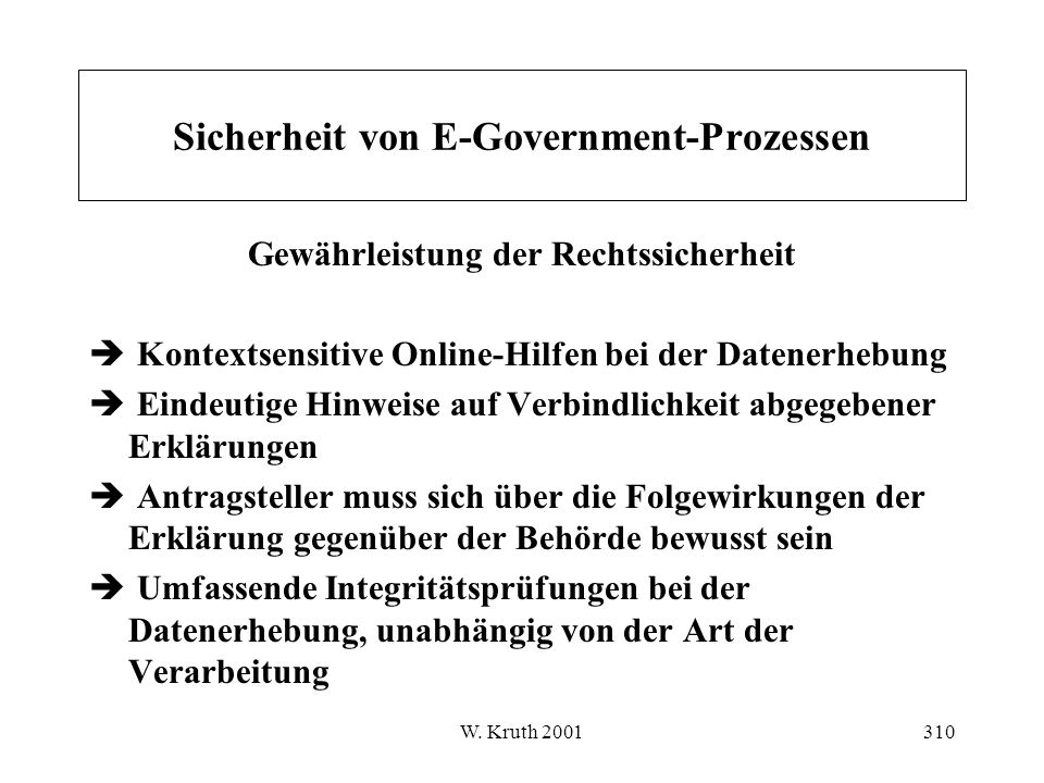 Sicherheit von E-Government-Prozessen