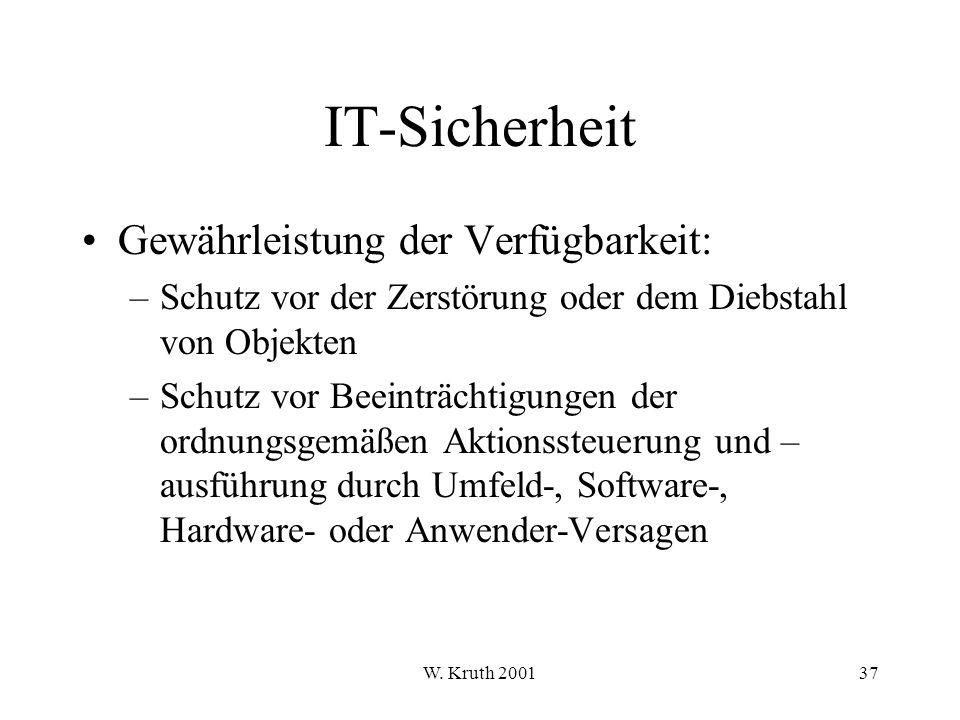 IT-Sicherheit Gewährleistung der Verfügbarkeit: