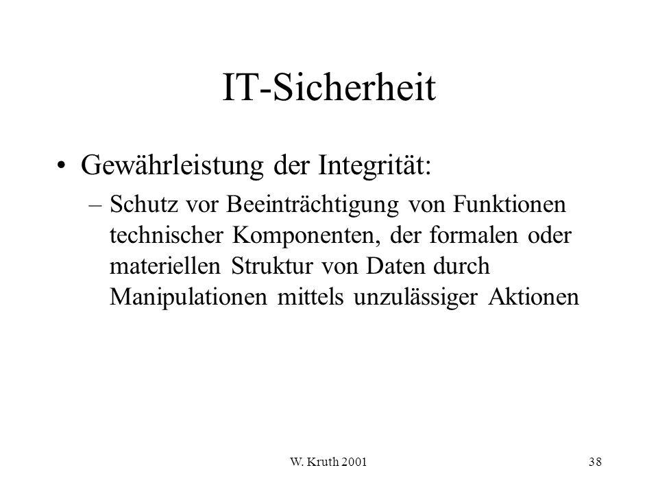 IT-Sicherheit Gewährleistung der Integrität: