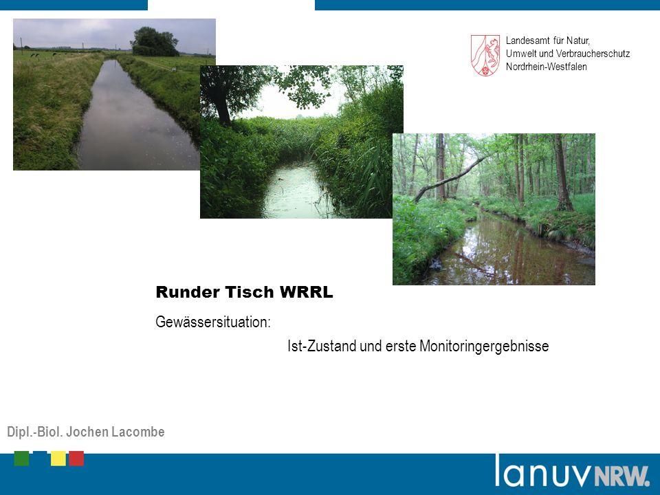Gewässersituation: Ist-Zustand und erste Monitoringergebnisse