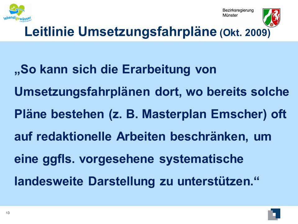 Leitlinie Umsetzungsfahrpläne (Okt. 2009)