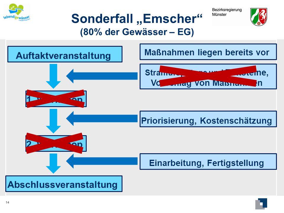 """Sonderfall """"Emscher (80% der Gewässer – EG)"""