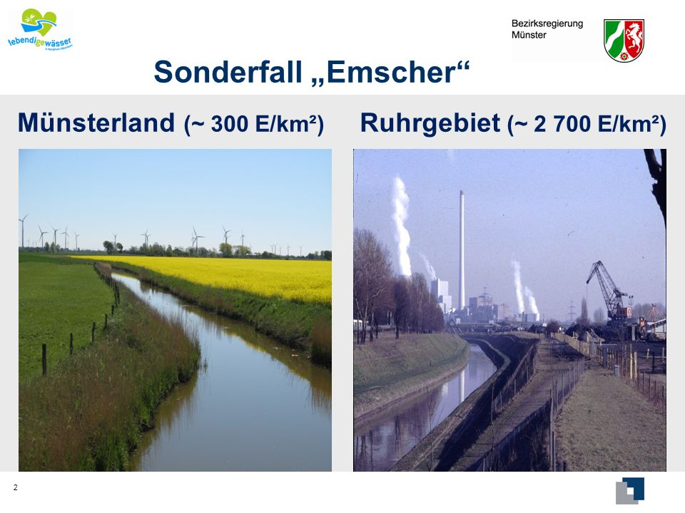"""Sonderfall """"Emscher Münsterland (~ 300 E/km²)"""