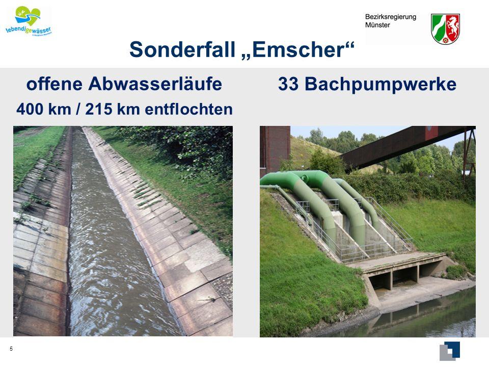 "Sonderfall ""Emscher 33 Bachpumpwerke offene Abwasserläufe"