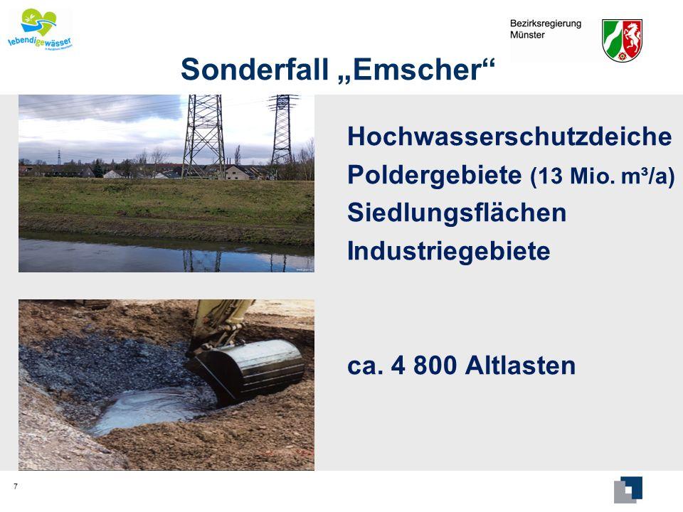 """Sonderfall """"Emscher Hochwasserschutzdeiche"""