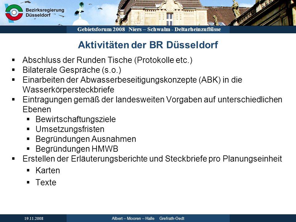 Aktivitäten der BR Düsseldorf