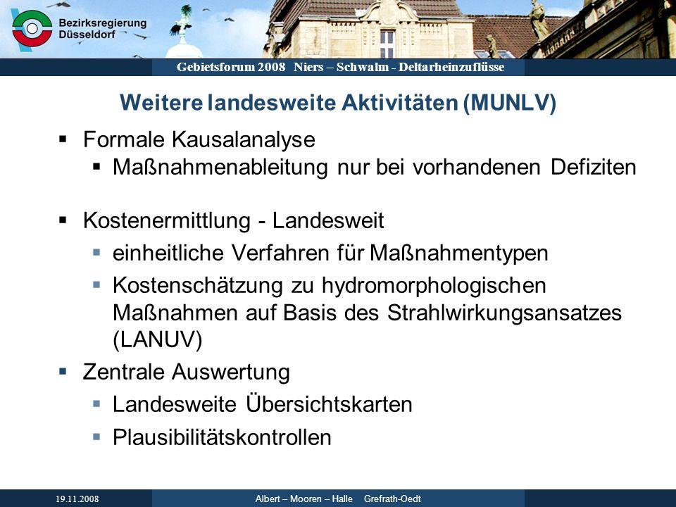 Weitere landesweite Aktivitäten (MUNLV)
