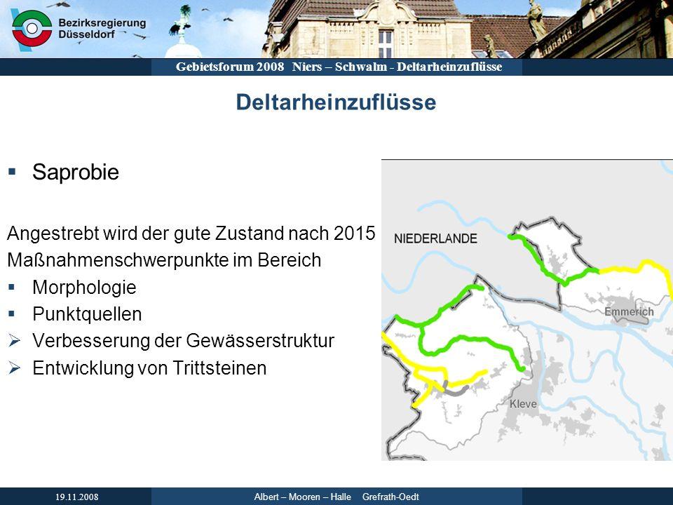 Deltarheinzuflüsse Saprobie Angestrebt wird der gute Zustand nach 2015