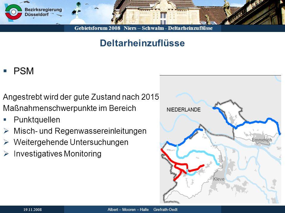 Deltarheinzuflüsse PSM Angestrebt wird der gute Zustand nach 2015