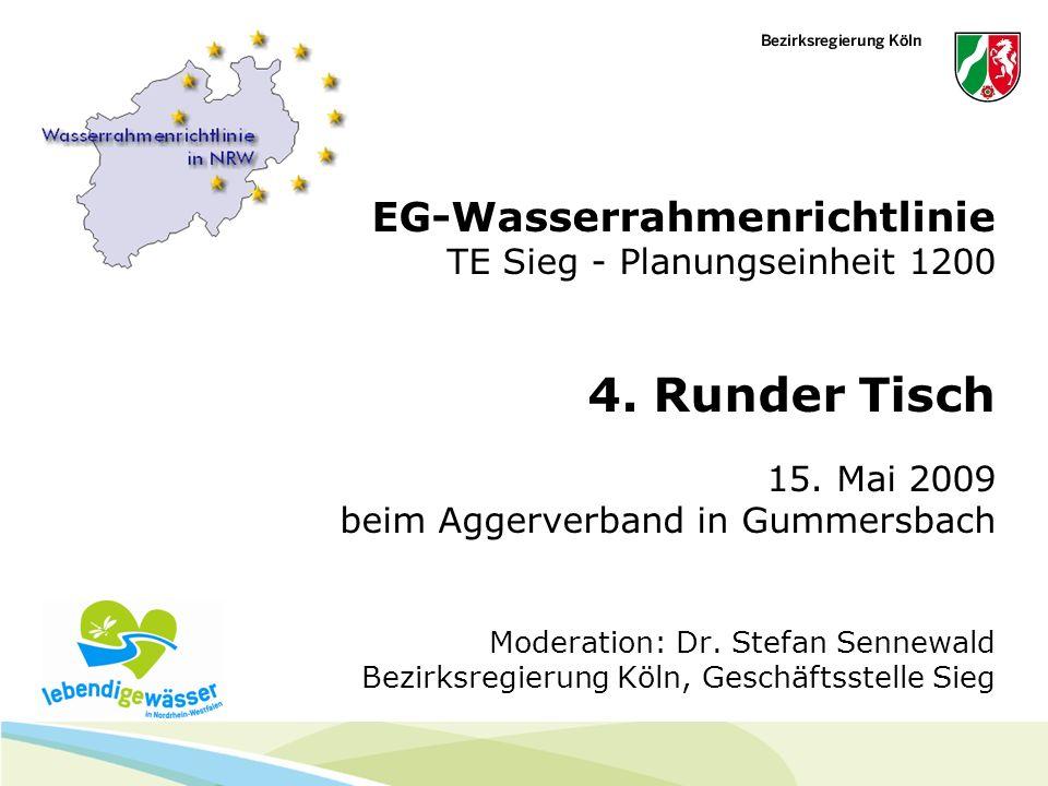EG-Wasserrahmenrichtlinie TE Sieg - Planungseinheit 1200 4